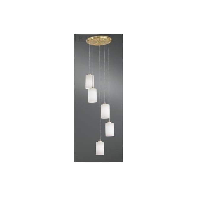 Franklite Lighting FL2255/5/727 Decima Brass 5 Light Ceiling Pendant