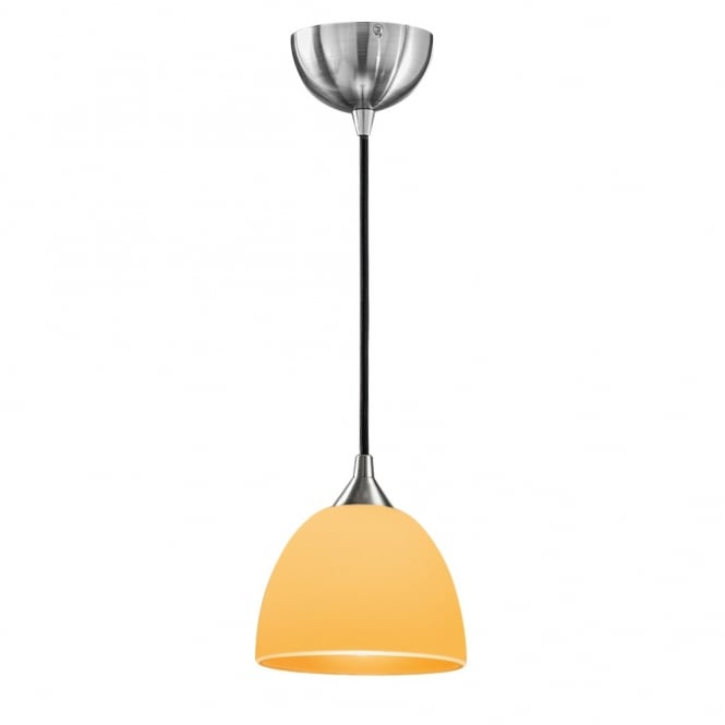 FL2290/1/937 Vetross 1 Light Small Ceiling Pendant in Orange