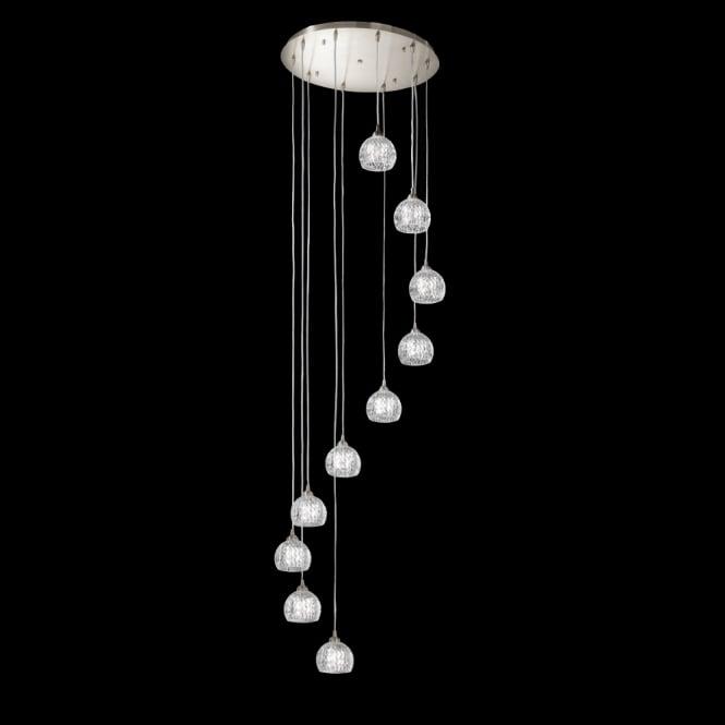 Franklite Lighting FL2300/10 Tierney 10 Light Cluster