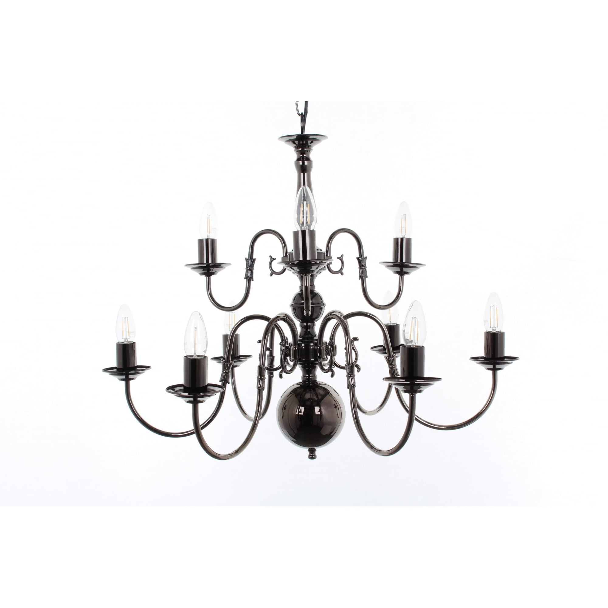 Impex Lighting Flemish 9 Light Chandelier In A Choice Of Finishes Bf00350 6 3 Lighting From The Home Lighting Centre Uk