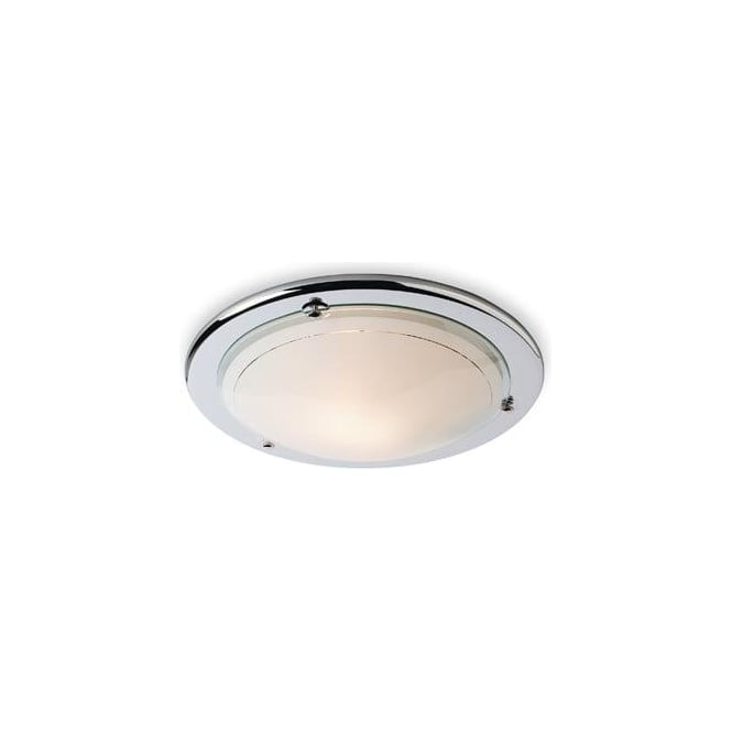 Firstlight Flush CF17 Low Energy 28 watt Ceiling Light in Chrome