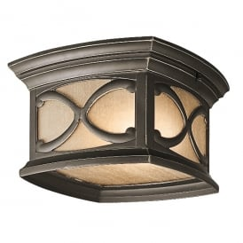 Franceasi Outdoor Flush Ceiling Lantern In Olde Bronze Finish KL/FRANCEASI/F