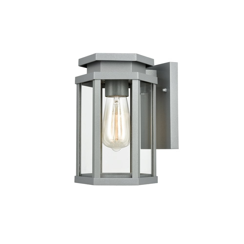 Franklin Contemporary Outdoor Wall Lantern In Silver Grey Finish Od6623 Lighting From The Home Lighting Centre Uk