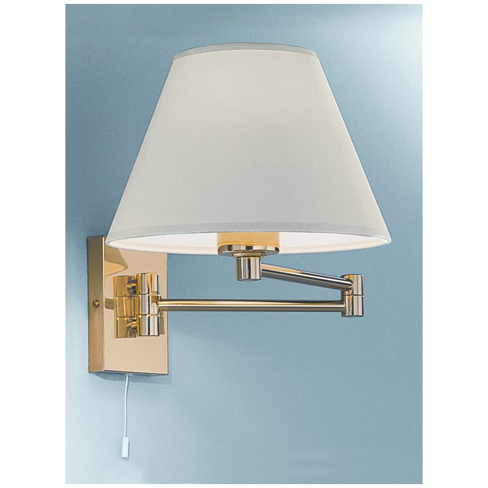 Franklin W128el 9004 Low Energy Swing Arm Wall Light Polished Brass Lighting From The Home Lighting Centre Uk
