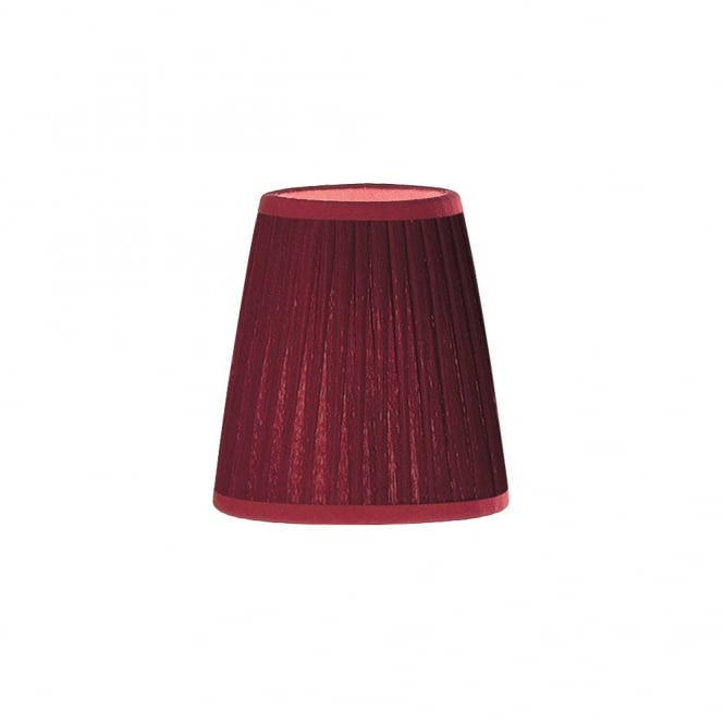 Franklite Lighting 1110 Small Red Pleat Fabric Shade