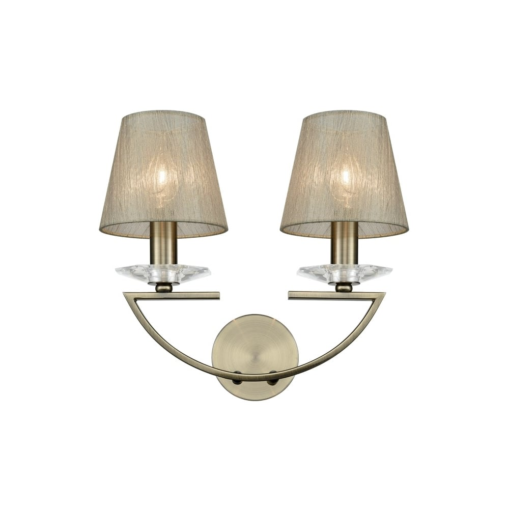 franklite lighting artemis twin wall light in bronze finish with