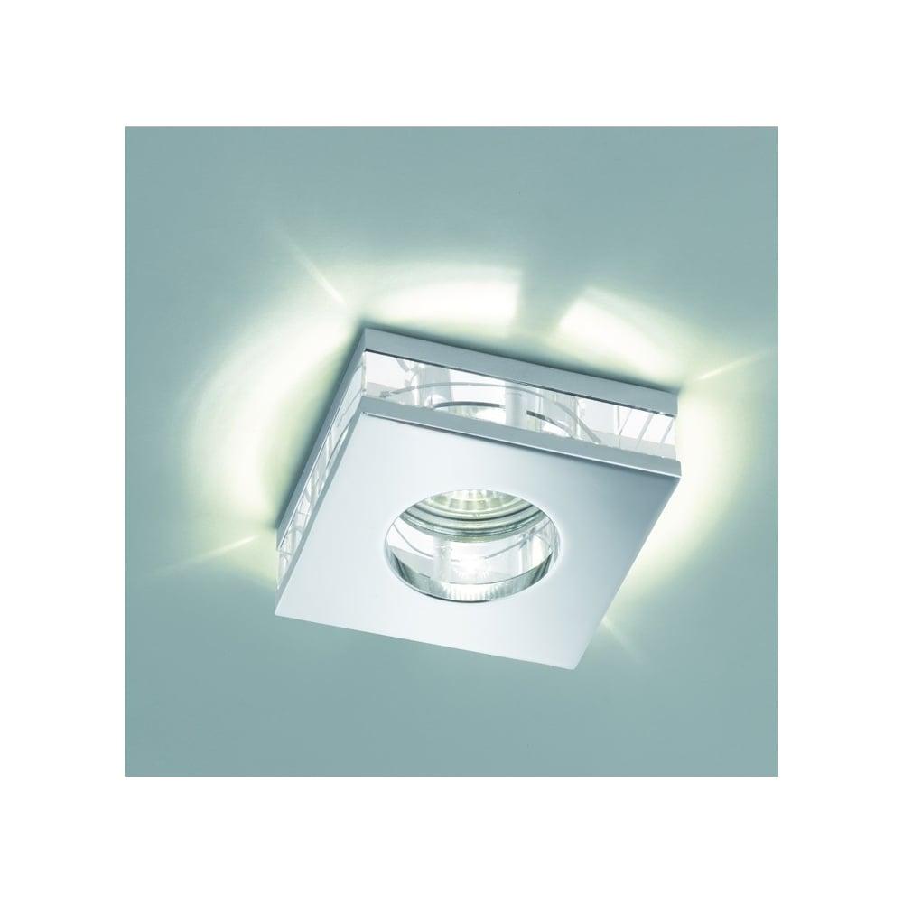 Led Bathroom Centre Light franklite lighting bathroom crystal glass recessed led downlight