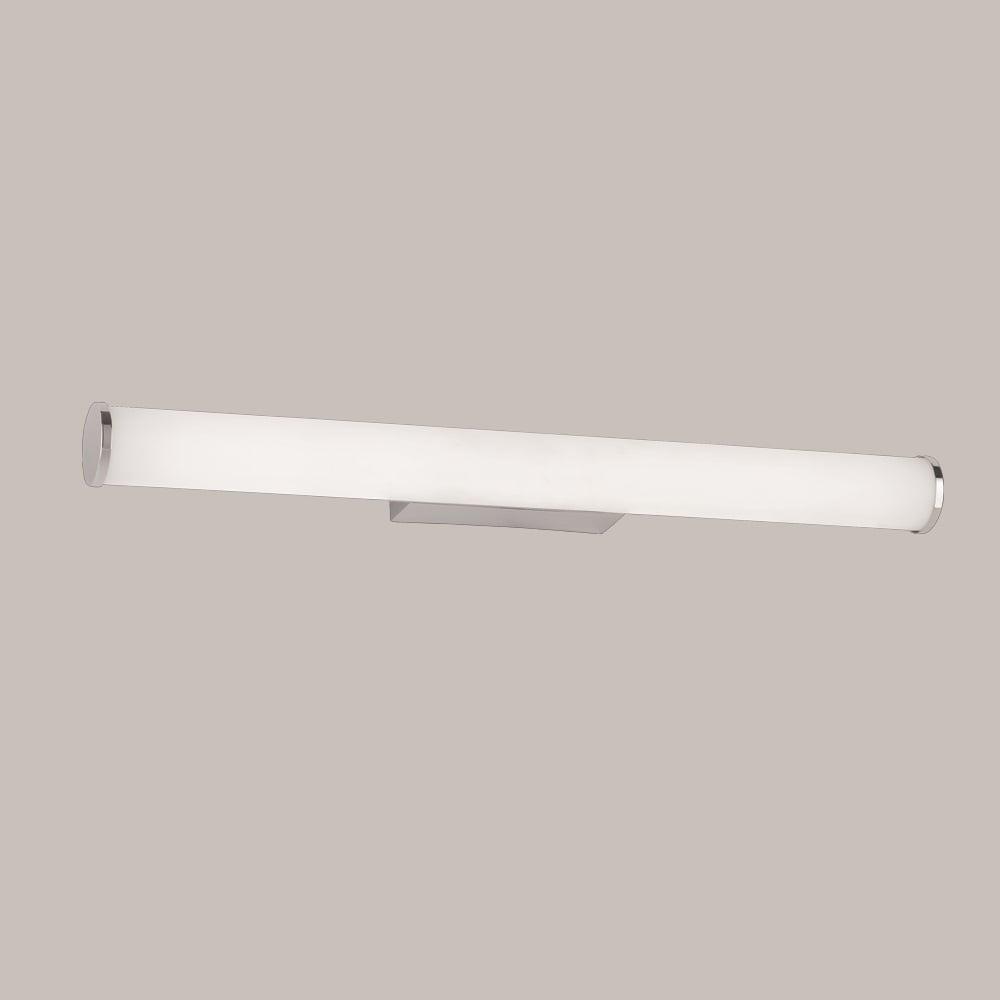 Led Bathroom Centre Light franklite lighting bathroom horizontal led opal wall light in