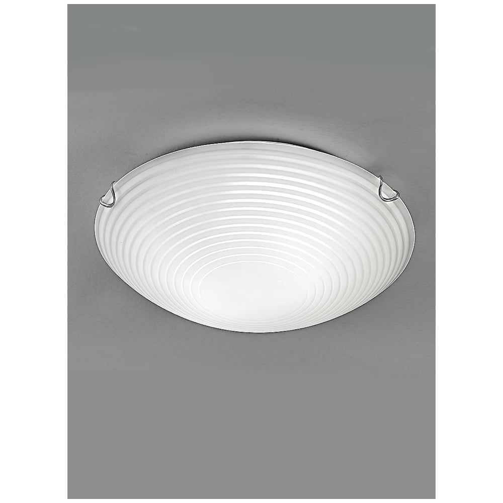 Cf5666 Small Frosted Glass Flush Ceiling Light