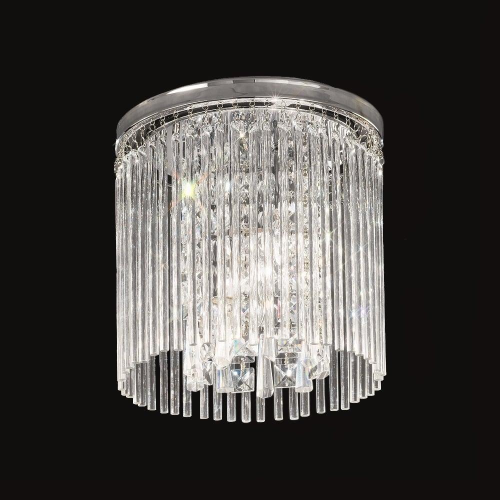 Cf5723 Charisma Small Crystal Flush Ceiling Light