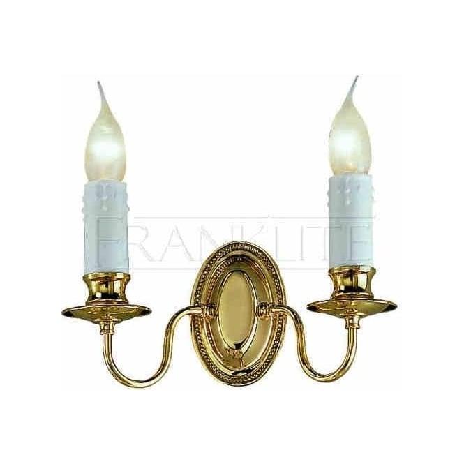 CO1042 Amboise 2 Light Spanish Brass Double Wall Light