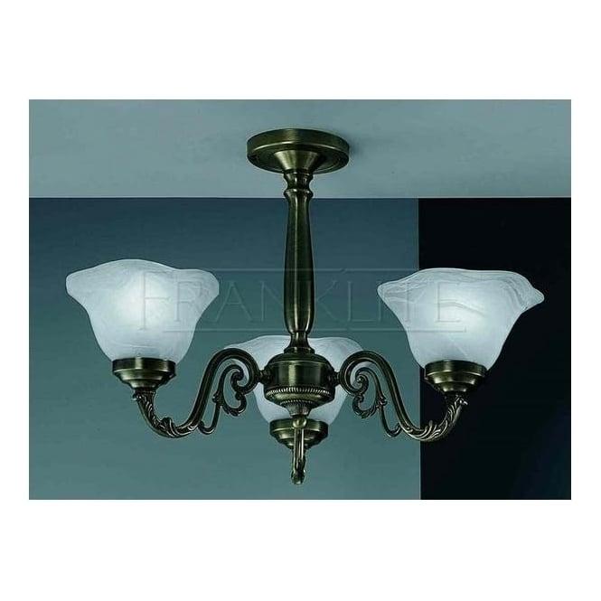 CO9603 495 Pavane Bronze 3 Light Semi Flush Ceiling Light