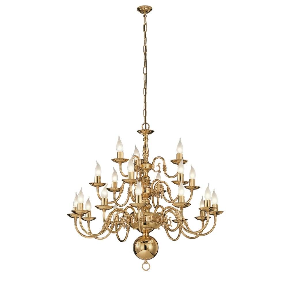 Franklite lighting delft 21 light polished brass flemish chandelier delft 21 light polished brass flemish chandelier pe79121 arubaitofo Images