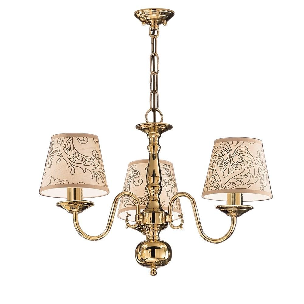 Franklite lighting delft 3 light polished brass flemish chandelier delft 3 light polished brass flemish chandelier pe7913 mozeypictures Gallery