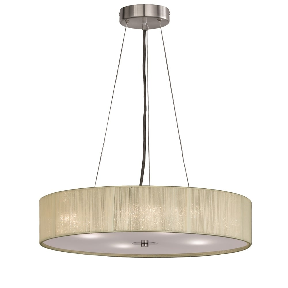 Desire Ceiling Pendant Light With Cream Shade And Glass Diffuser FL2342/4  sc 1 st  The Home Lighting Centre & Franklite Lighting Desire Ceiling Pendant Light With Cream Shade And ...
