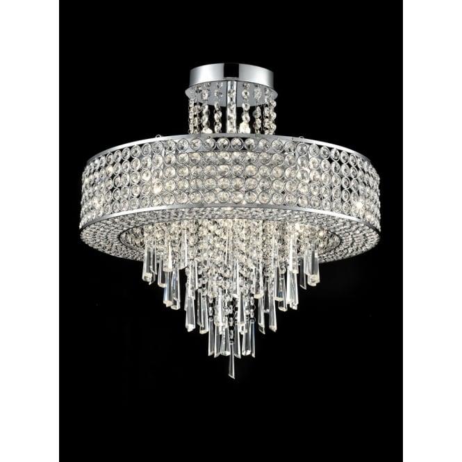 Franklite Fl2382 12 Duchess 12 Light Pendant Fitting: Franklite Lighting Duchess Stunning 12 Light Crystal Semi