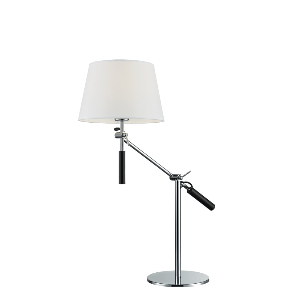 franklite lighting elegant adjustable table lamp in chrome finish