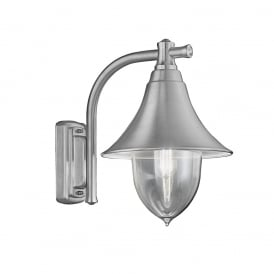 EXT6589 Lorenz Exterior Wall Lantern In Silver Grey