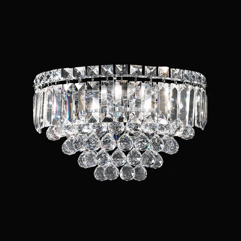 FL2020/3 Constellation 3 Light Crystal Wall Light & Franklite Lighting FL2020/3 Constellation 3 Light Crystal Wall Light ...