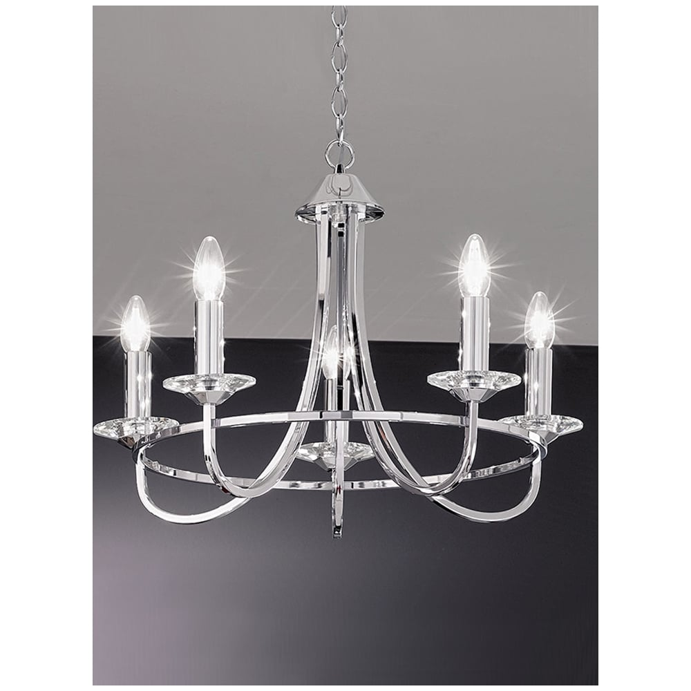Franklite lighting fl21465 carousel 5 light chrome chandelier fl21465 carousel 5 light chrome chandelier mozeypictures