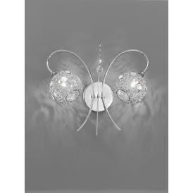 FL2214/2 Orion Double Light Crystal Wall Bracket