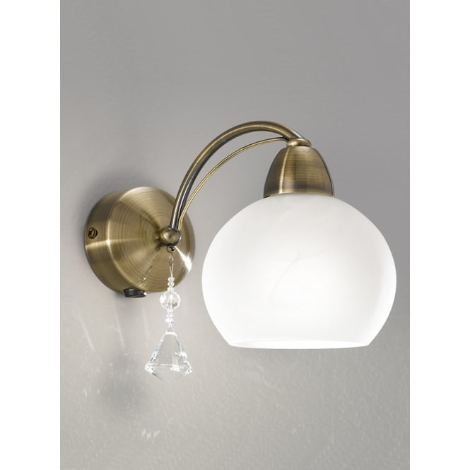 Franklite Lighting FL2278/1 Thea 1 Light Modern Bronze & Crystal Wall Light