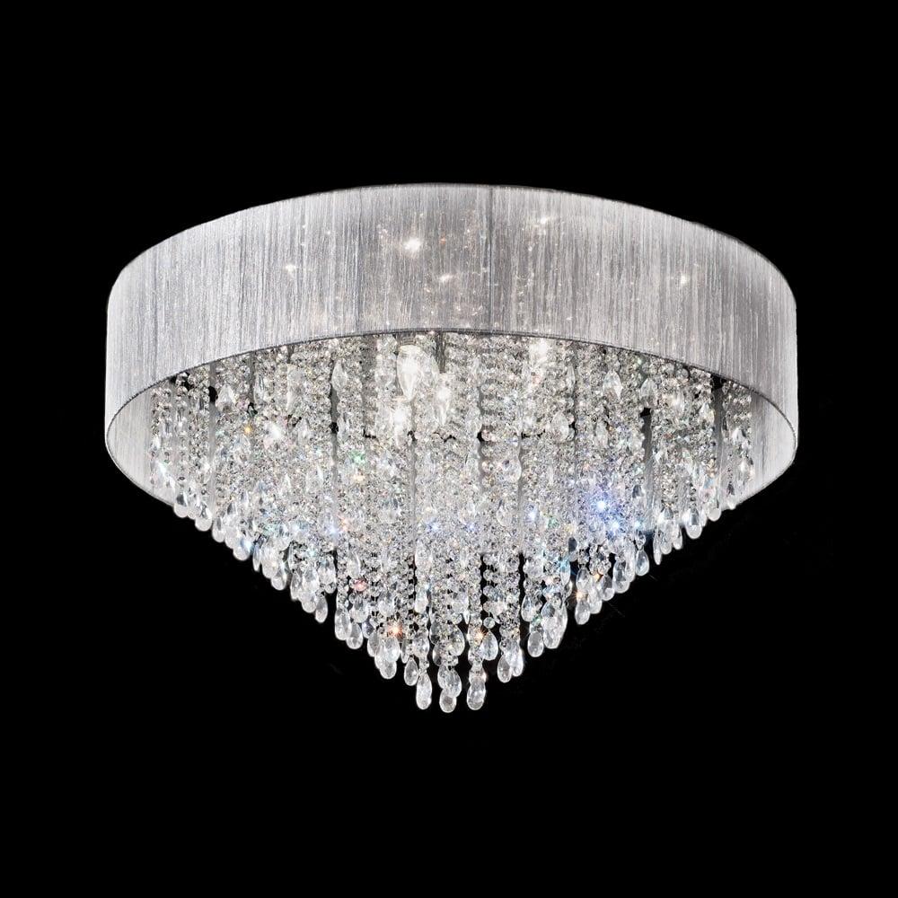 franklite lighting fl2281 10 royale 10 light crystal ceiling light