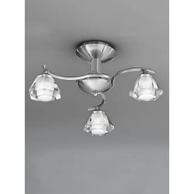 FL2294/3 Twista 3 Light Satin Nickel Semi Flush Light