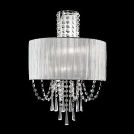 FL2303/2 Empress 2 Light Chrome and Crystal Wall Bracket