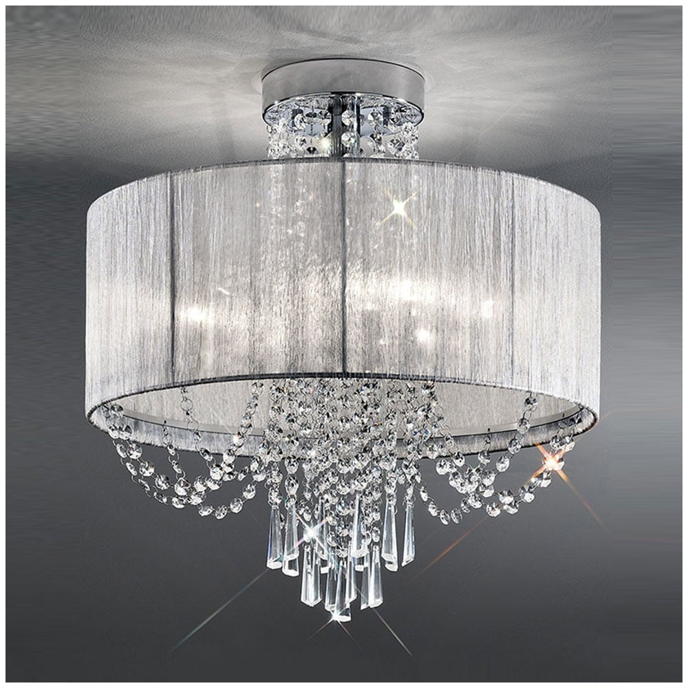 franklite lighting fl2303 6 empress 6 light semi flush crystal