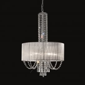 FL2304/6 Empress 6 Light Chrome and Crystal Pendant