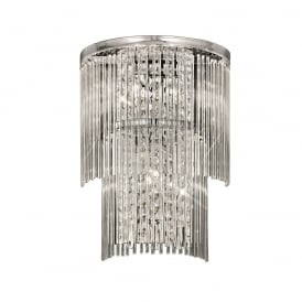 FL2309/3 Charisma Chrome and Crystal Tiered Wall Light