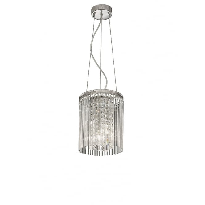 Franklite Lighting FL2310/3 Charisma Chrome and Crystal Ceiling Pendant