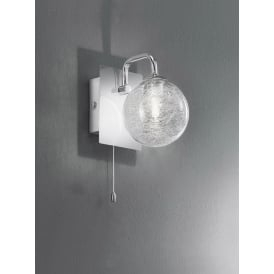 FL2313/1 Switched 1 Light Chrome and Glass Bathroom Wall Light