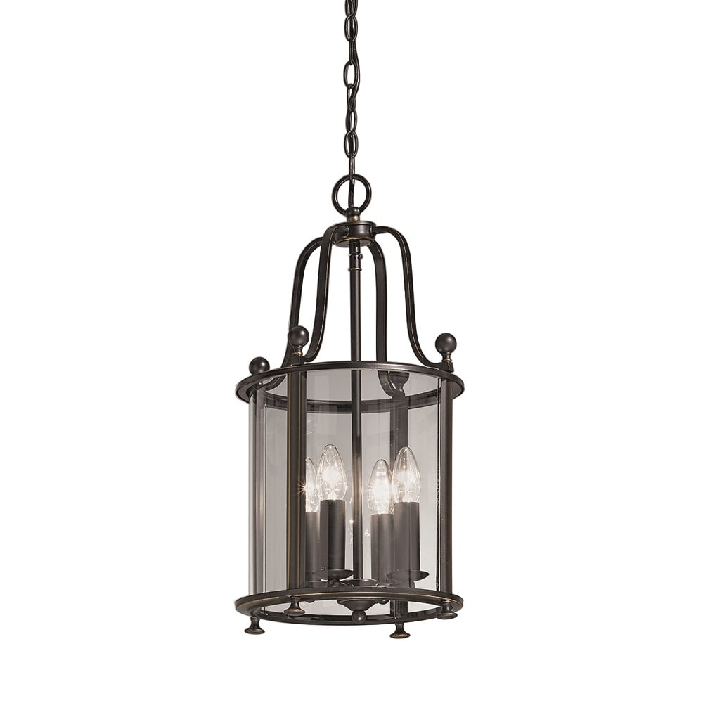 franklite lighting la7001 4 pasillo 4 light antique bronze hanging