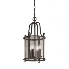LA7001/4 Pasillo 4 Light Antique Bronze Hanging Lantern
