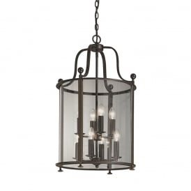LA7001/8 Pasillo 8 Light Antique Bronze Hanging Lantern