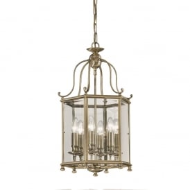 LA7007/6 Montpelier 6 Light Bronze Georgian Hall Lantern