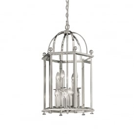 LA7008/8 Madison 8 Light Chrome Hexangonal Lantern