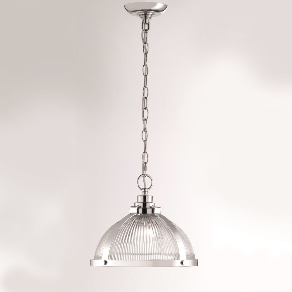 franklite lighting merton ceiling pendant light in chrome finish
