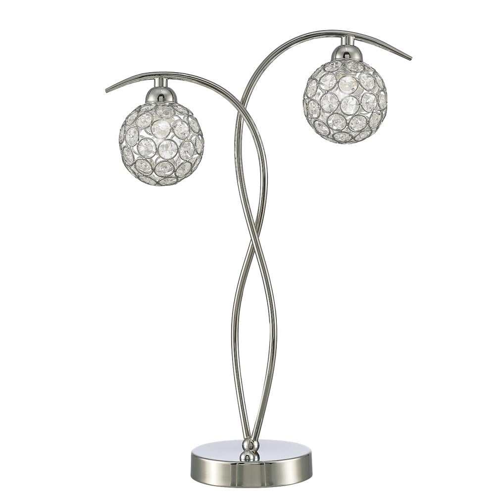 Oracle Modern Crystal Table Lamp In Chrome Finish TL985