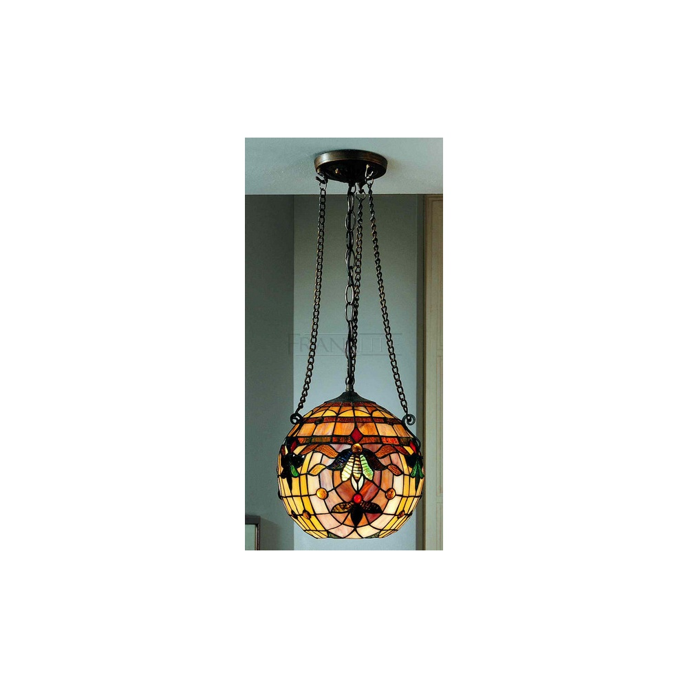 Chicago Lighting Company: PCH94 And T110 Chicago Tiffany 1 Light Round Ceiling