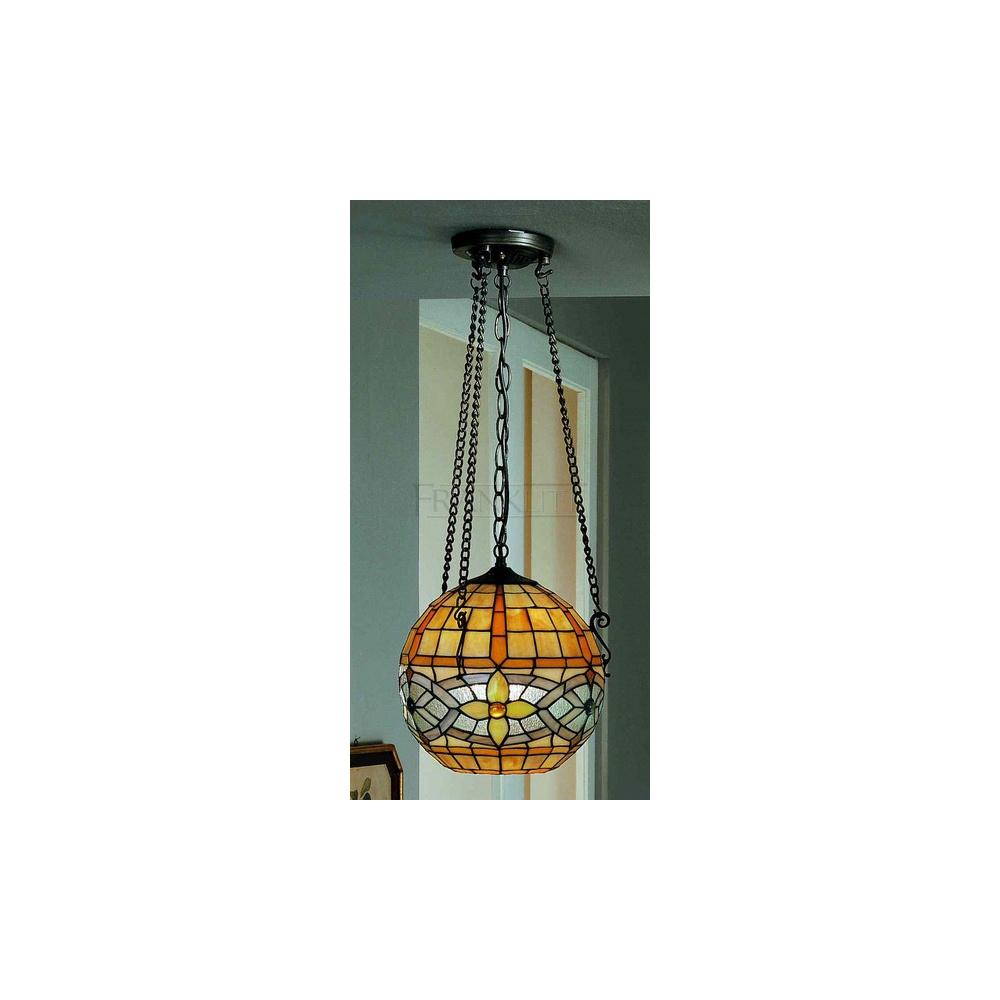 PCH94 And T115 Cavatina Tiffany 1 Light Round Ceiling