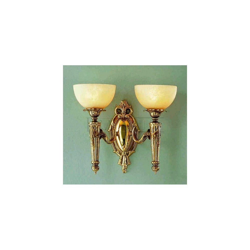 Traditional White Wall Lights : Franklite Lighting PE2942 Bacchus 2 Light Spanish Brass Wall Light - Lighting from The Home ...