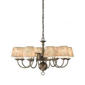 PE7938 Halle 8 Light Bronze Solid Brass Flemish Ceiling Light