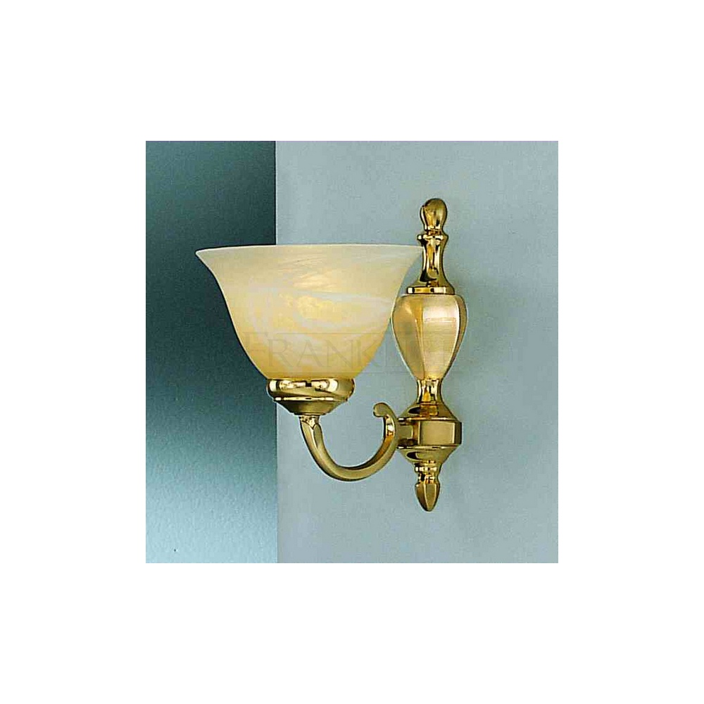 Polished brass ceiling and wall lights theteenline franklite lighting pe8381 miami 1 light brass wall satin aloadofball Choice Image