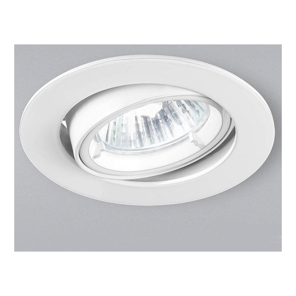 Franklite Lighting RF284 White Halogen Recessed Spotlight - Lighting ...
