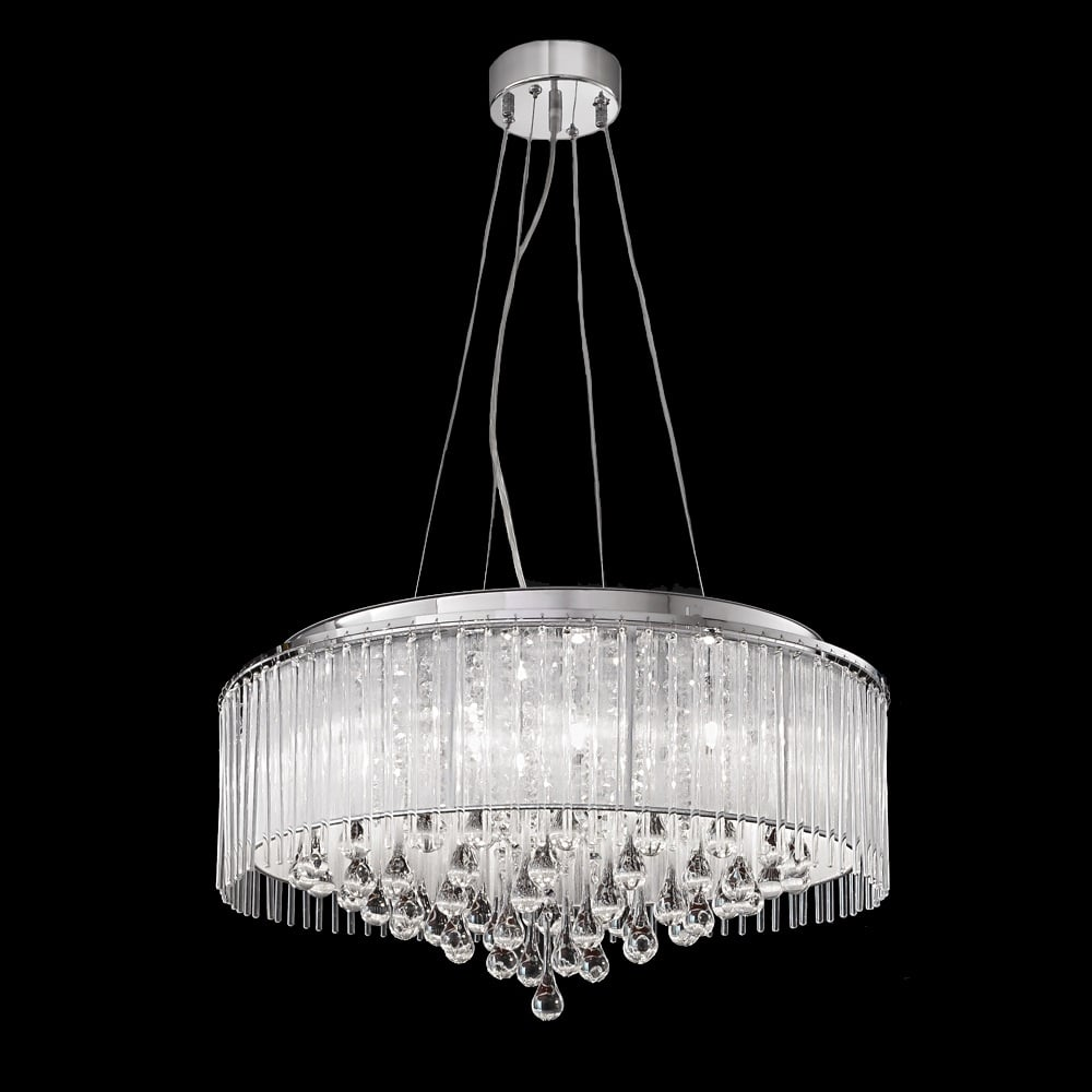 Franklite spirit fl21618 large modern crystal ceiling pendant light spirit hanging 8 light ceiling light fl21618 arubaitofo Images