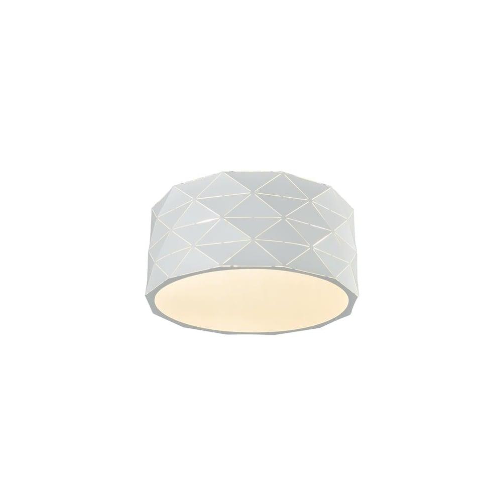 Franklite lighting tangent modern flush ceiling light in white tangent modern flush ceiling light in white finish cf5768 aloadofball Gallery
