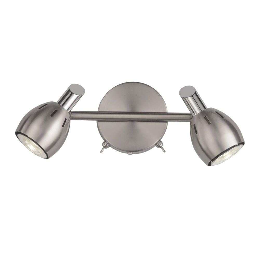 Tivoli Adjustable Wall Spotlight In Satin Nickel Finish SPOT9002